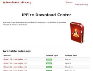 download.ipfire.org screenshot