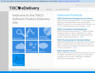 download.tibco.com screenshot
