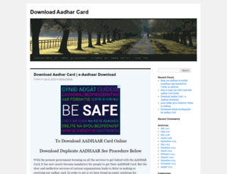 downloadaadharcard.com screenshot