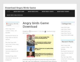 downloadangrybirdgame.com screenshot