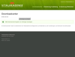downloadcenter.vitalakademie.at screenshot
