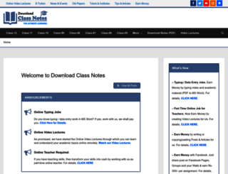 downloadclassnotes.com screenshot