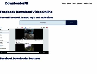 downloaderfb.com screenshot