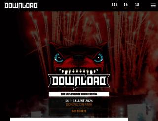 downloadfestival.co.uk screenshot