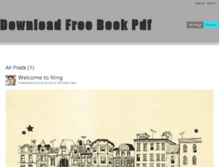 downloadfreebookpdf.ning.com screenshot