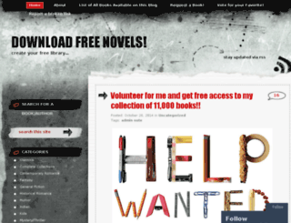 downloadfreenovels.wordpress.com screenshot