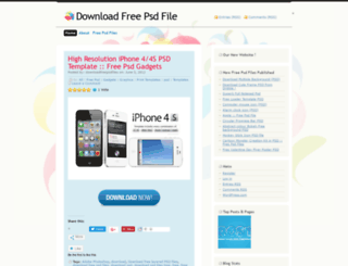 downloadfreepsdfiles.wordpress.com screenshot