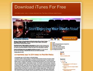 downloaditunesforfree.blogspot.com screenshot