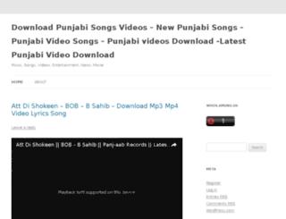 downloadpunjabisongsvideos.wordpress.com screenshot