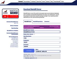 downloads.mariadb.org screenshot
