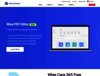 downloads.wisecleaner.com screenshot
