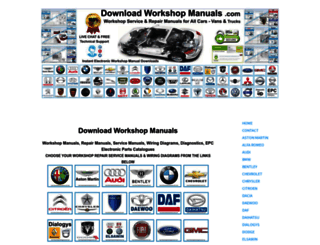 downloadworkshopmanuals.com screenshot