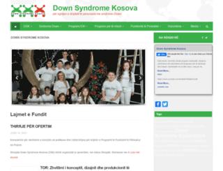 downsyndromekosova.org screenshot