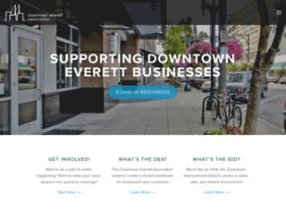downtowneverett.squarespace.com screenshot