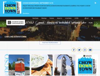 downtowngreensboro.net screenshot