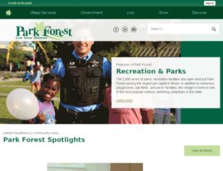 downtownparkforest.com screenshot