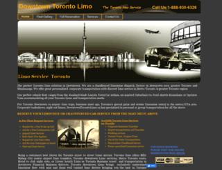 downtowntorontolimo.ca screenshot