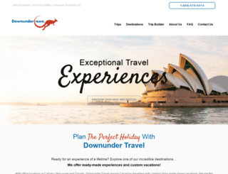 downunder-travel.com screenshot
