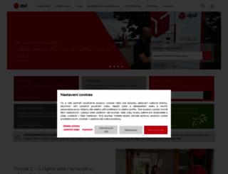 dpd.cz screenshot