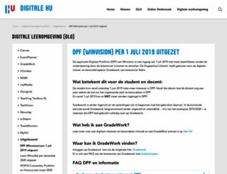 dpf.hu.nl screenshot
