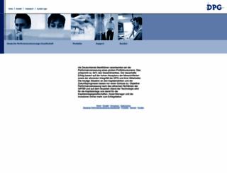 dpg.de screenshot