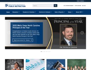 dpi.state.nc.us screenshot