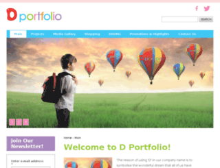 dportfolio.me screenshot
