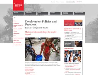 dpp.graduateinstitute.ch screenshot