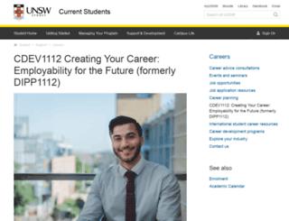 dpp.unsw.edu.au screenshot