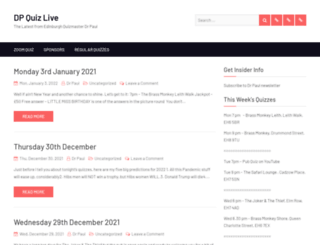 dpquizlive.co.uk screenshot