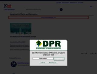 dpr.dc.gov screenshot