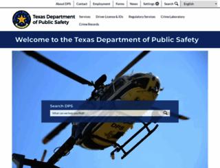 dps.texas.gov screenshot