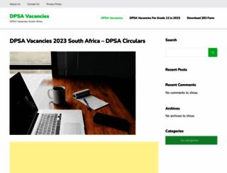 dpsavacancies.org screenshot