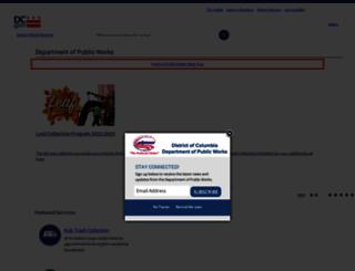 dpw.dc.gov screenshot