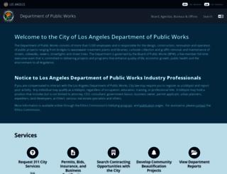 dpw.lacity.org screenshot
