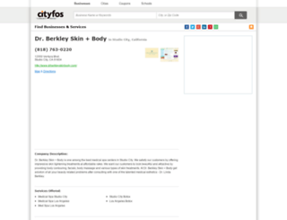 dr-berkley-skin-and-body-in-studio-city-ca.cityfos.com screenshot