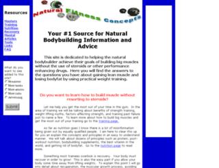 dr-natural-bodybuilding.com screenshot