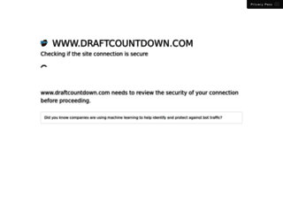 draftcountdown.com screenshot