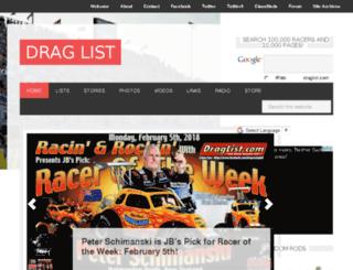 draglist.com screenshot