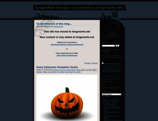 dragonartz.wordpress.com screenshot