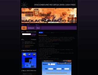 dragonbound.webnode.es screenshot