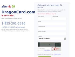 dragoncard.com screenshot