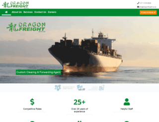 dragonfreight.co.za screenshot