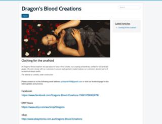dragonsbloodcreations.com screenshot