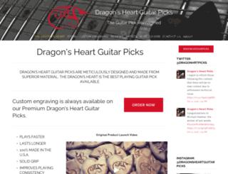 dragonsheartguitarpicks.com screenshot