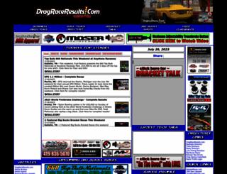 dragraceresults.com screenshot