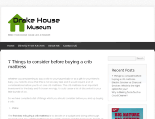 drakehousemuseum.org screenshot