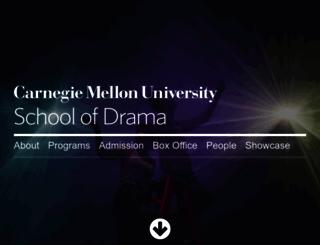 drama.cmu.edu screenshot
