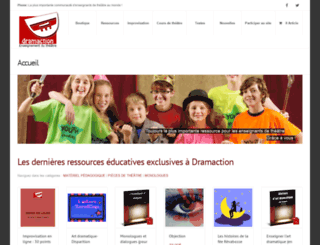 dramaction.qc.ca screenshot