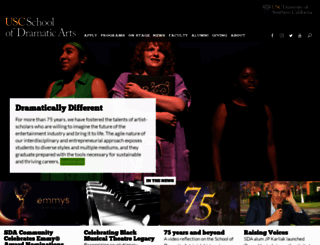 dramaticarts.usc.edu screenshot